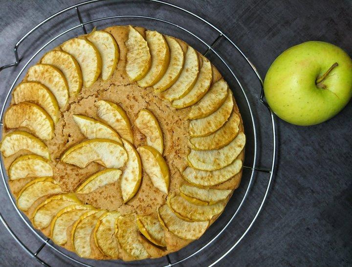 Gâteau aux pommesvegan.