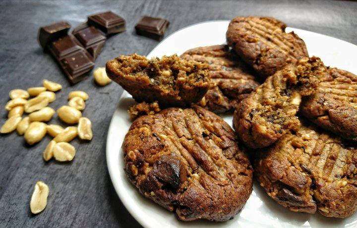 Cookies sans gluten au beurre de cacahuète.